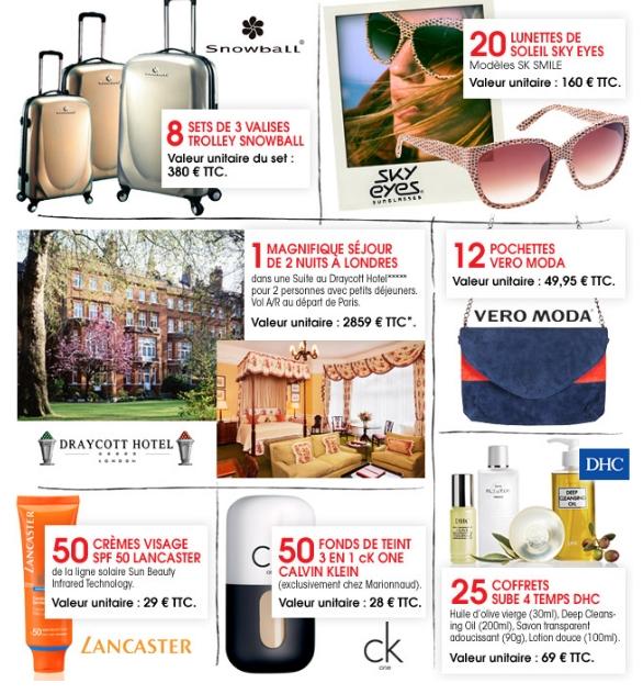 Jeu concours Be: nombreux lots à gagner (mode, beauté, voyage) Préparez votre été avec Be, plus de 14000€ de cadeaux à gagner.