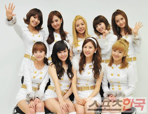 ... nine-member, all-girl pop band from Korea, Girls' Generation.