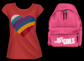 Stardoll Free The Hit Girls T-Shirt and Backpack