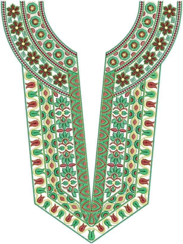 Latest A-Z Neck Embroidery Designs - Emb