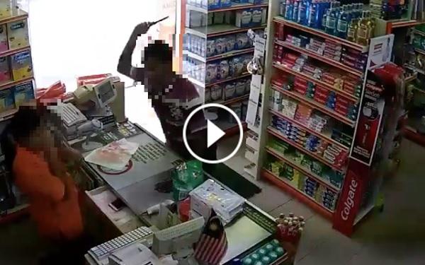 Rakaman VIDEO Lelaki Serang Isteri Guna Pisau di Dalam Pasaraya