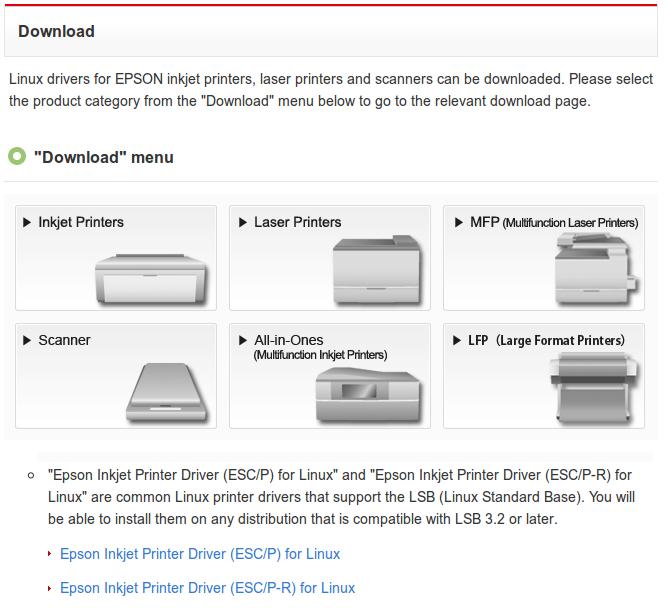 Download dan Instal Driver Epson di Ubuntu