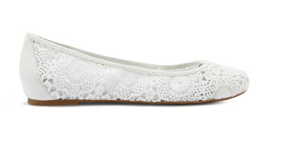 Chicos white lace flats