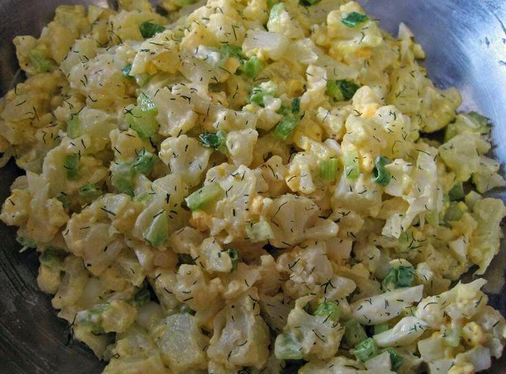 Mock Potato Salad - Low Carb