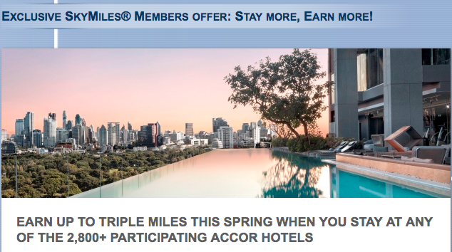 Delta Skymiles Up To Triple Miles For Accor Hotel Stays Worldwide Until June 30
