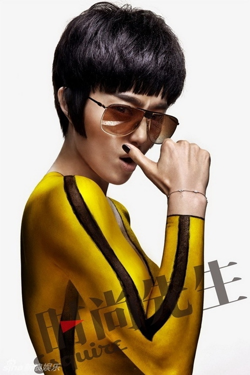 Fan Bing Bing manly in new collection