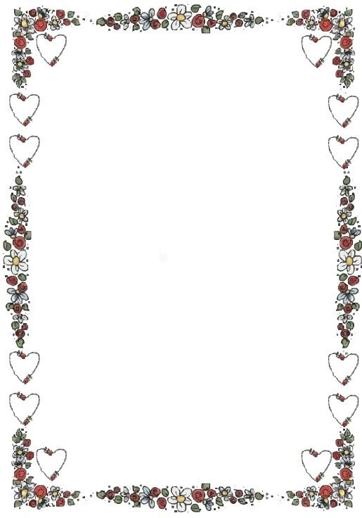 Bordes para tarjetas de San Valentín gratis - Imagui