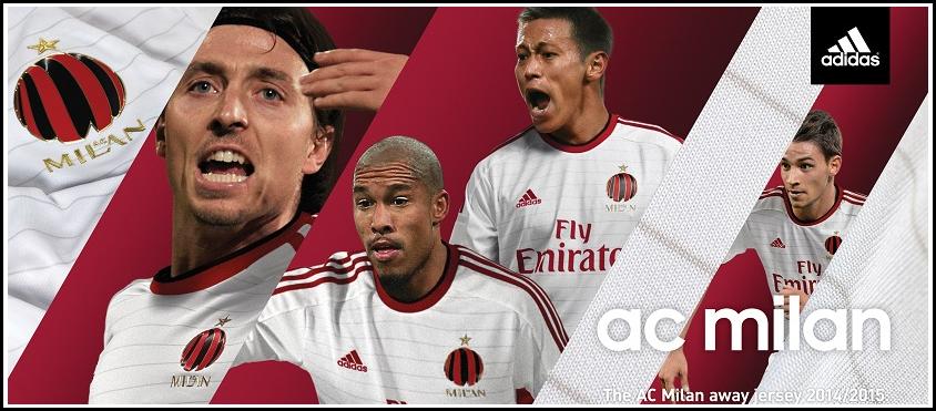 KIT Jersey AC Milan Away 2014 - 2015 Adidas