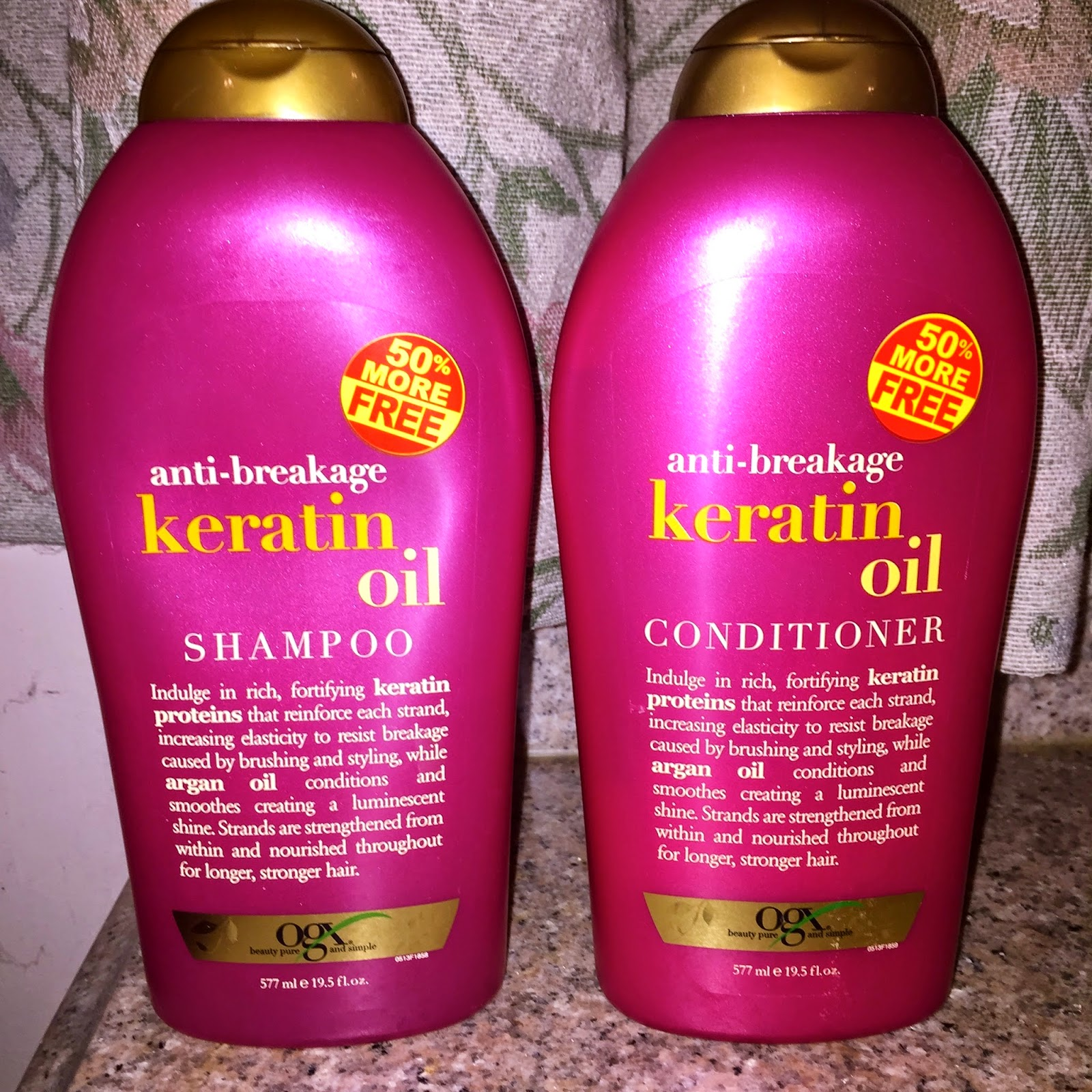 Organix keratin shampoo and conditioner reviews