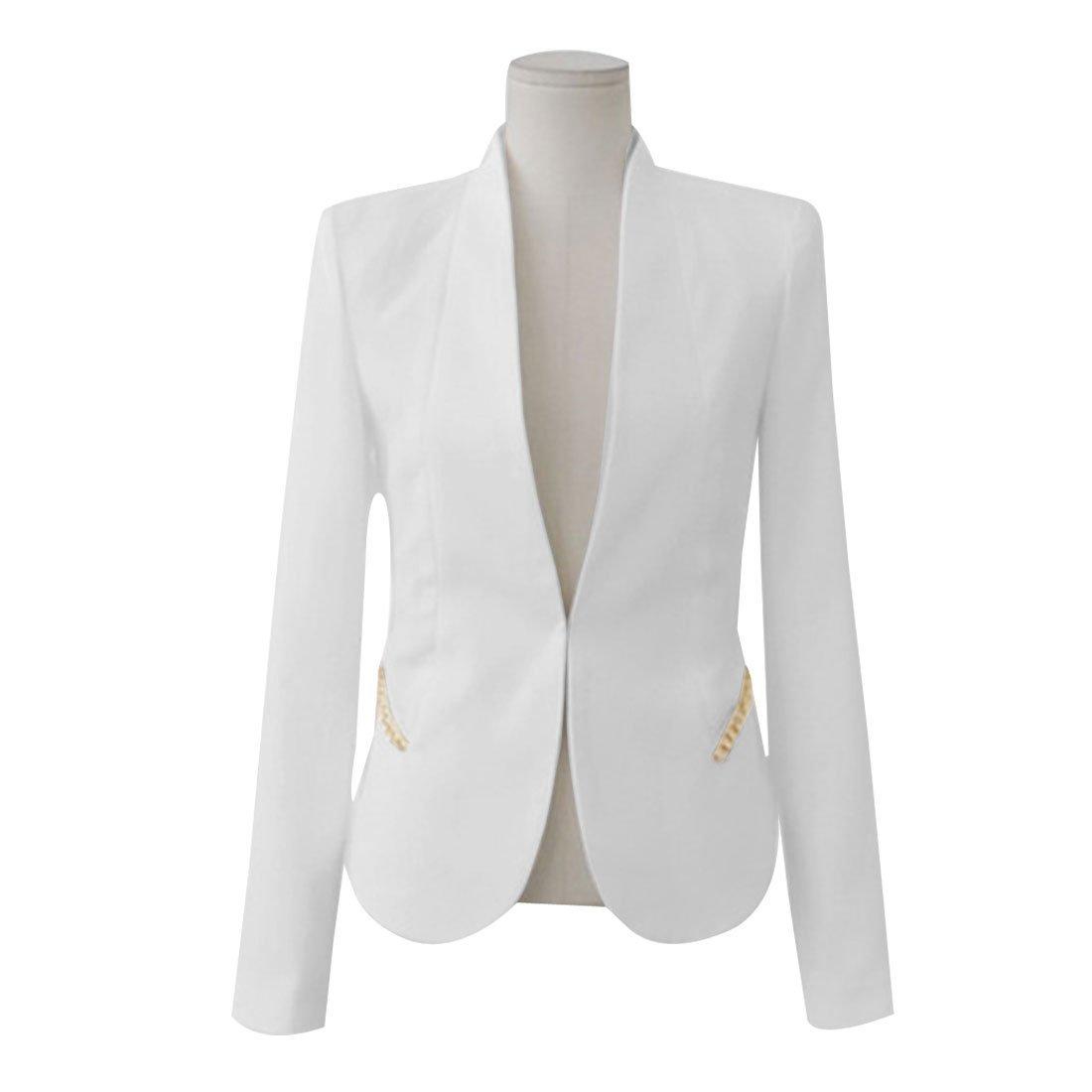 Off White Blazer Womens - Trendy Clothes