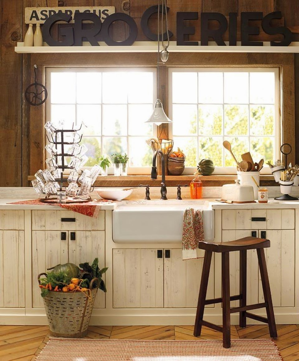 Decotips decorar con la paleta neutra y matices de color for Country kitchen colors ideas