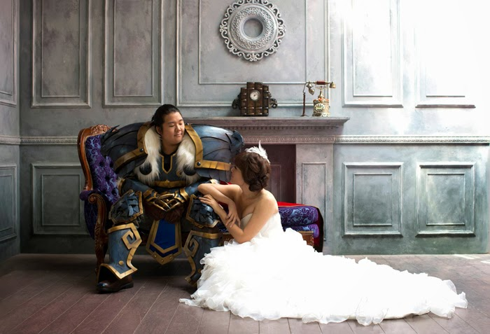 World of Warcraft cosplay engagement photo