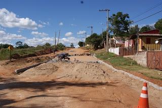 ruas do Bairro Barcelos Cachoeira do Sul