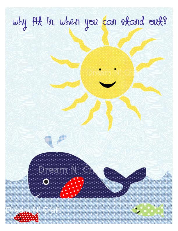 DreamAndCraft - My little shop in Etsy: Blue Whale Nursery Print ...