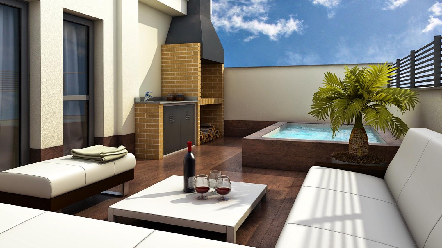 Qubic 10 ideas para una terraza de ensue o for Terrazas pequenas minimalistas
