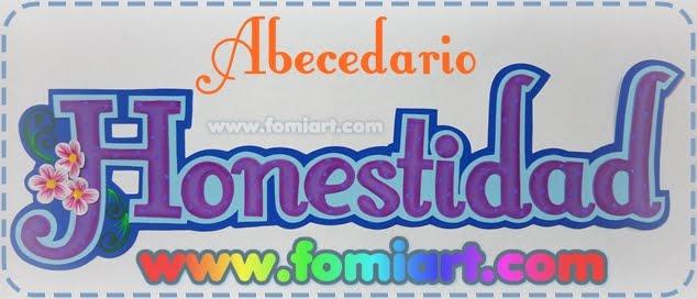"""Abecedario """"Honestidad"""" Moldes Gratuitos"""