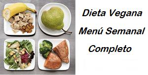 dieta vegana menu semanal adelgazar barriga y perder peso