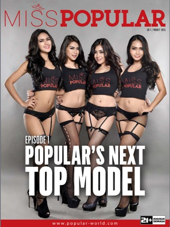 Miss POPULAR Magazine - Ed 01, Maret 2015 Episode I : Popular's Next Top Model (Gege Fransiska, Zairah Wijaya, Echa Frauen, Eka Lim) | www.zone.downloadmajalah.com