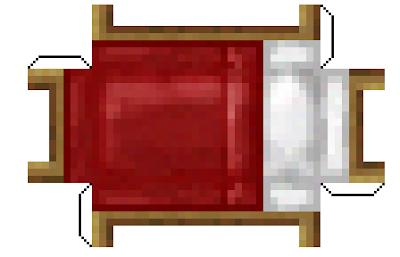 Minecraft jr papercraft cama for Cama minecraft