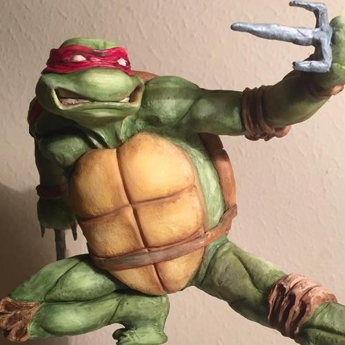 08-Raphael-Teenage-Mutant-Ninja-Turtles-Natalie-Sideserf-Food-Art-Macabre-Graphic-and-Funny-www-designstack-co