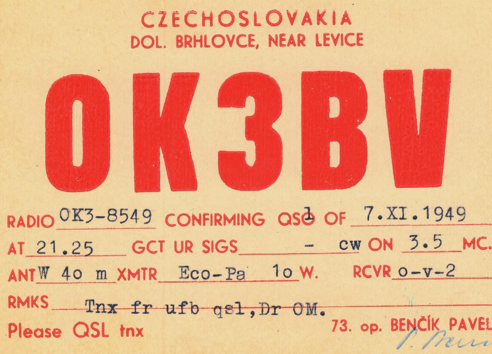 Album historických QSL 1945-1952