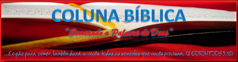 """COLUNA BÍBLICA - """"Semeando a Palavra de Deus""""."""