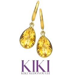 Kate Middleton Jewel Kiki McDonough Citrine Drop Earrings