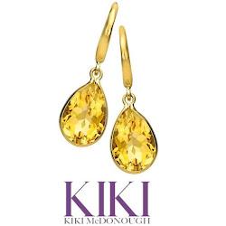 Kate Middleton Jewel Kiki McDonough Citrine Drop Earrings