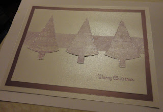 Purple trees Christmas Card