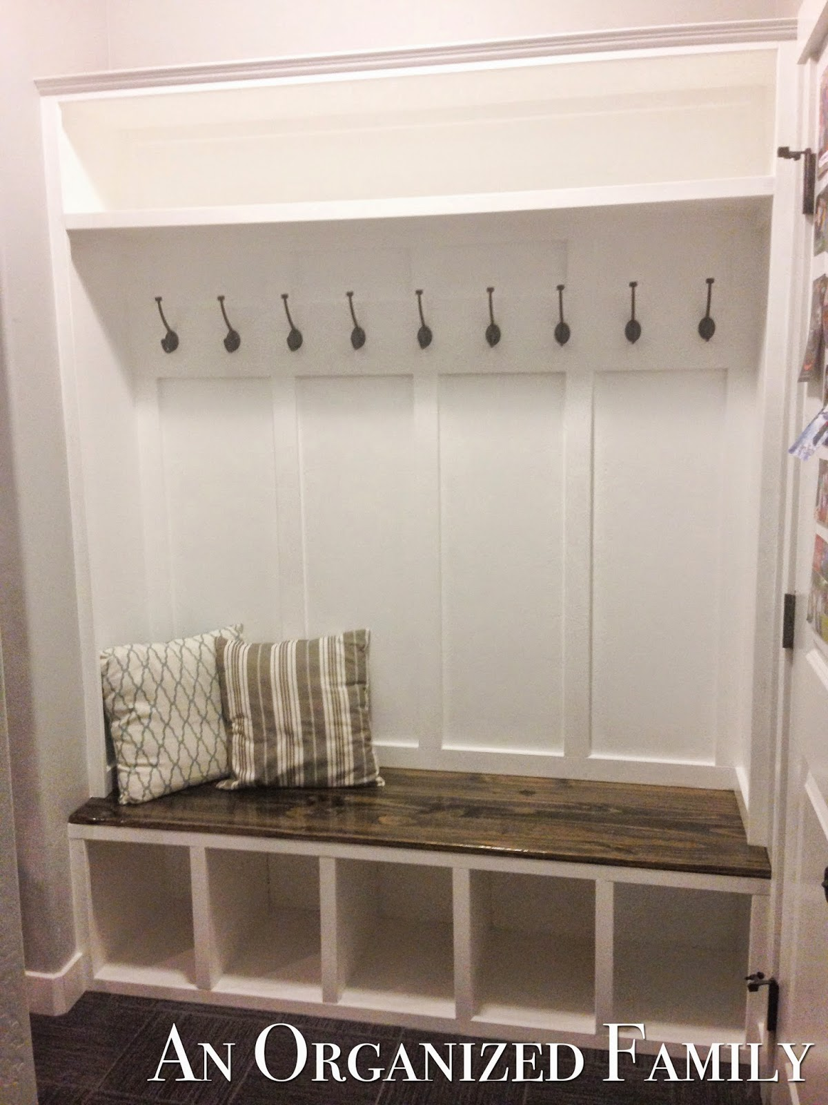 Nissa lynn interiors how to build a mudroom bench by amanda Mud room benches
