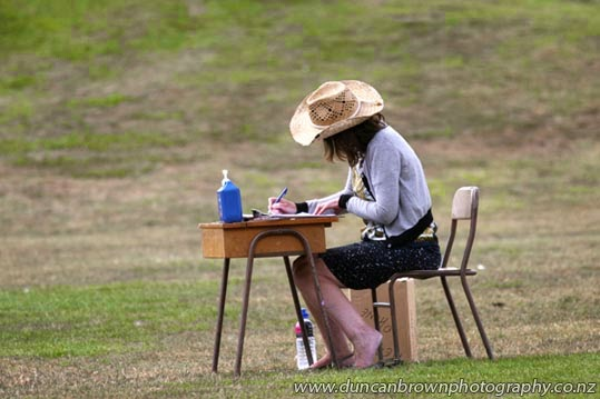 Keeping score, Havelock North Primary's summer sports day in the Domain photograph
