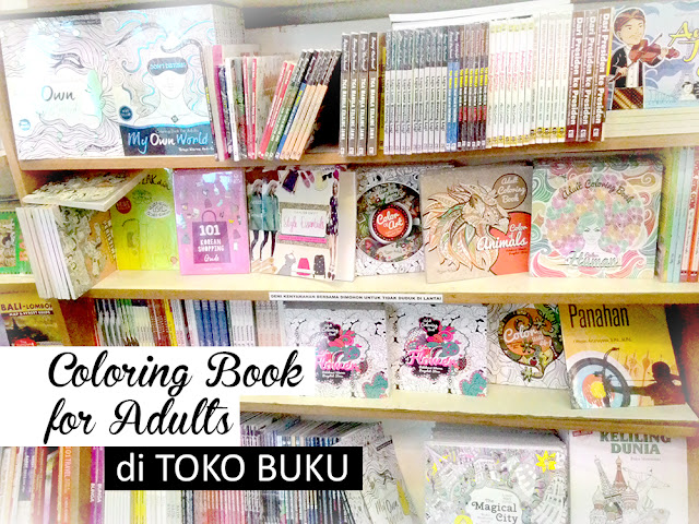 Coloring Book for Adults di toko buku