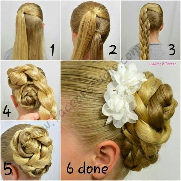 DIY Pretty Double Braided Bridal Hairstyle