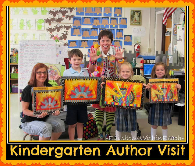 photo of: Debbie Clement makes Kindergarten Classroom Author-Illustrator School Visit