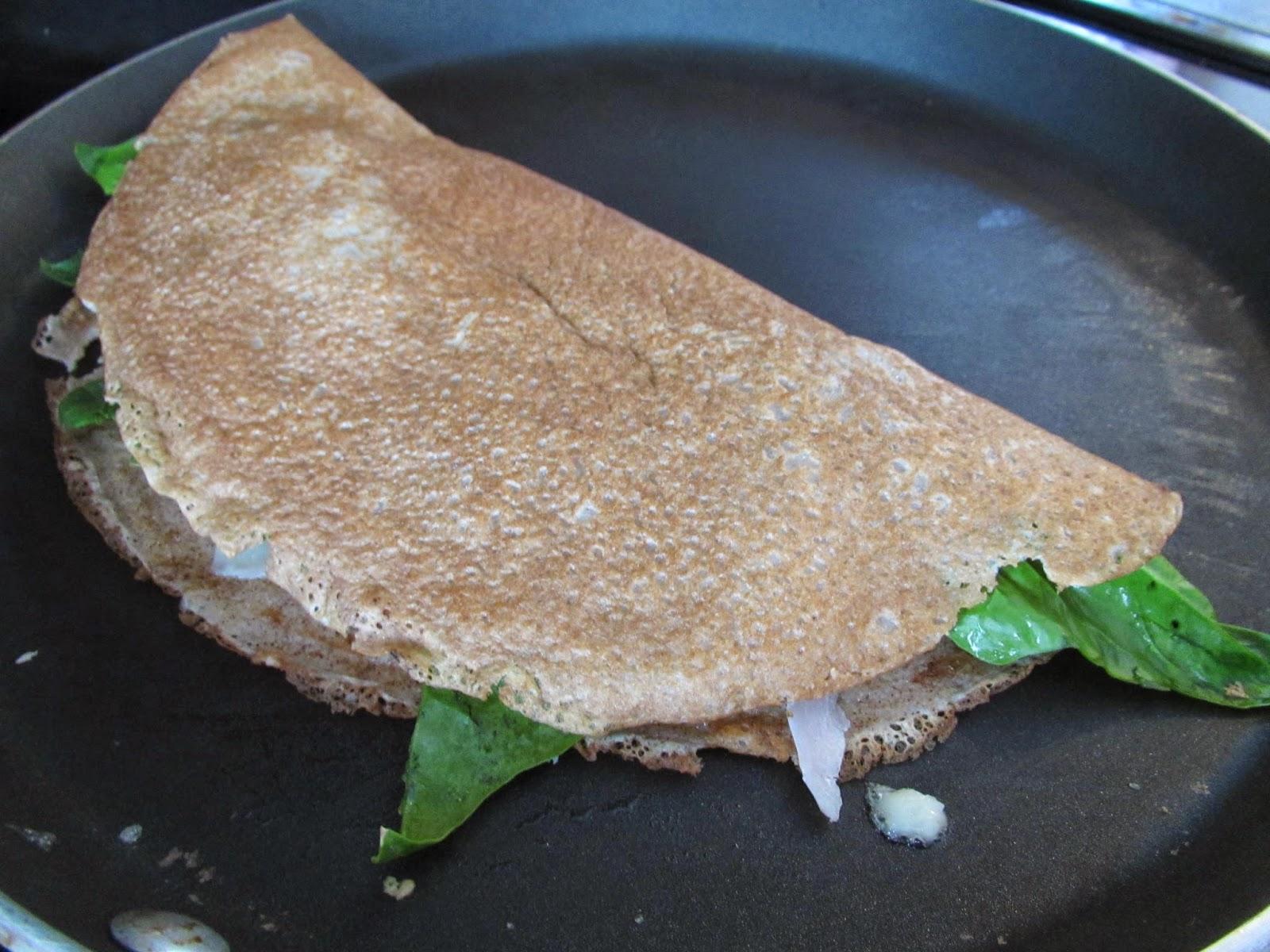 Cooking a Gluten Free Hot Crepe Sandwich