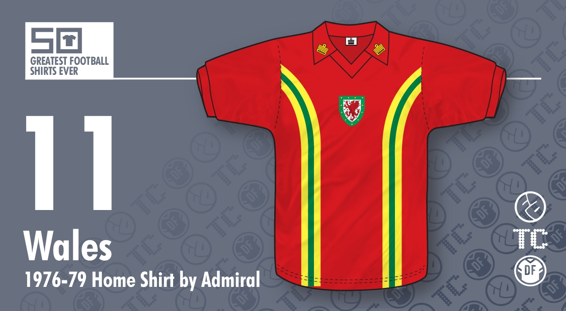 50GFSE   11 - Wales 1976-79 Home Shirt by Admiral ~ The Football Attic edcd1ceb4