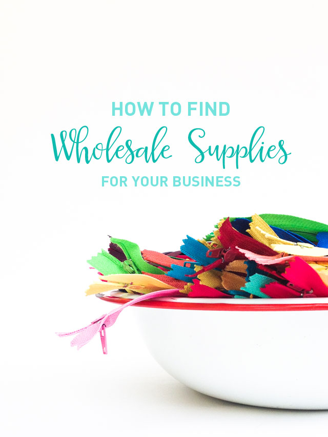 How to find wholesale supplies for your small business | Mama Bleu