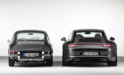 Porsche 911 Carrera 4S Coupé and Porsche 911 2.0 Coupé (Model Year 1964)