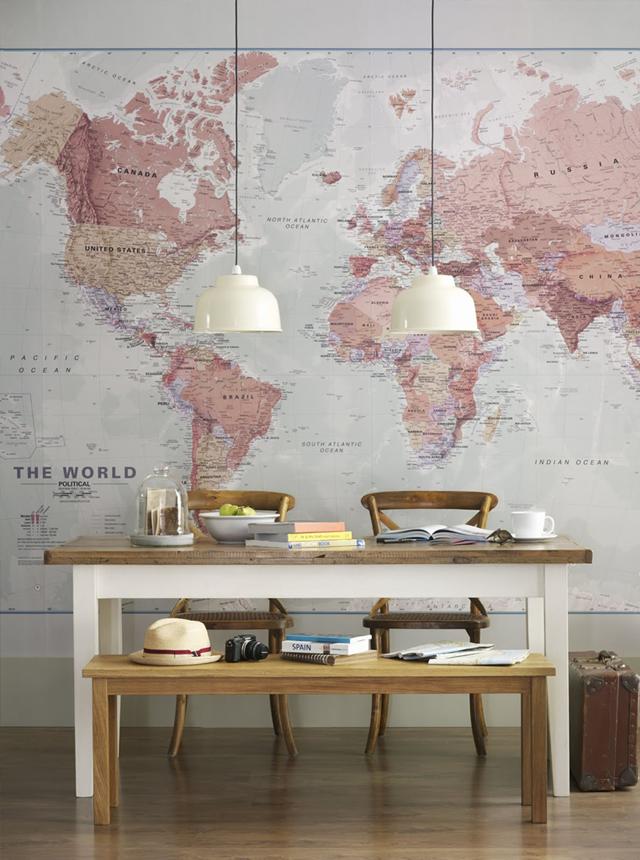 papier peint original carte du monde