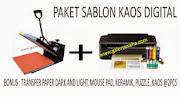 PAKET SABLON KAOS DIGITAL
