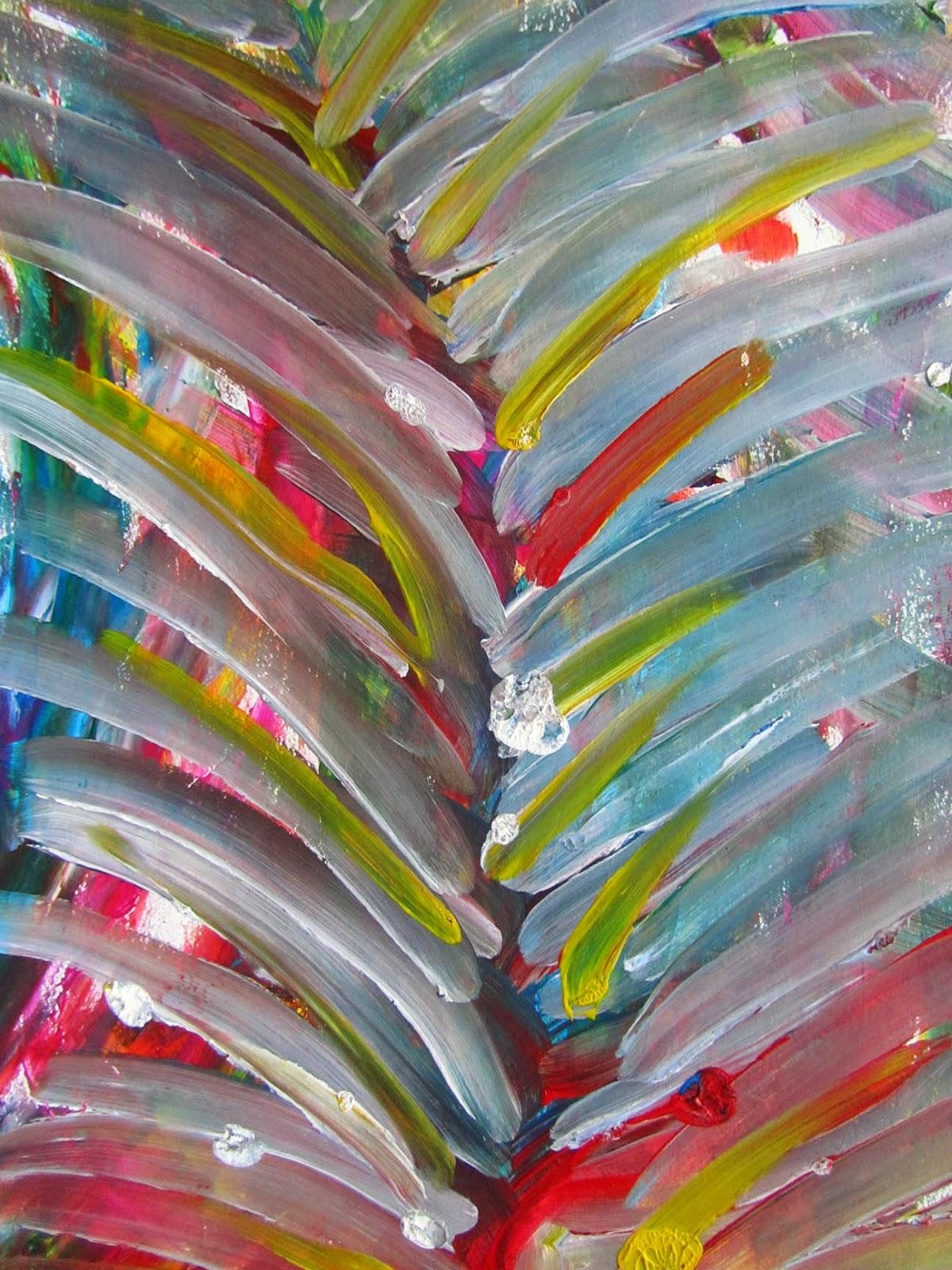 painted featherlike shape