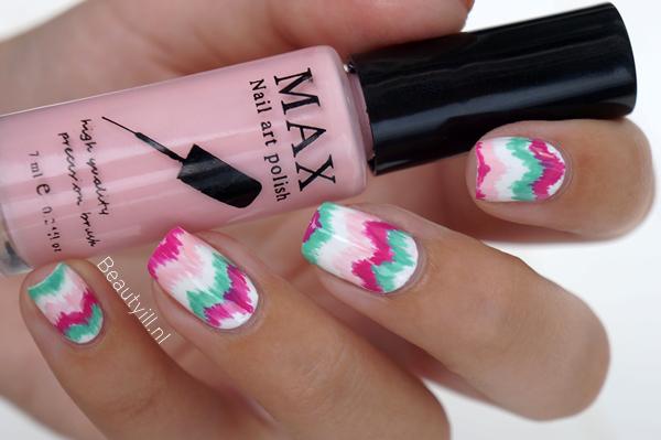 diy nail art chevron stripes