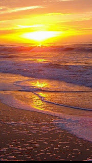 Free Download Ocean Beach Sunset HD iPhone 5 Wallpapers