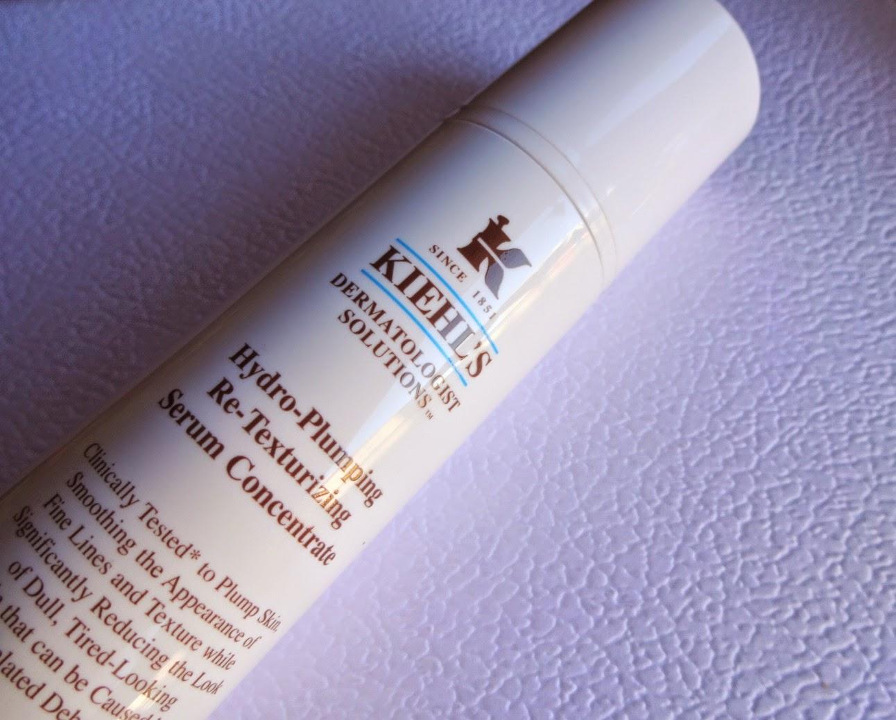 kiehl's hydro plumping re-texturizing serum concentrate, prodotti preferiti make up, siero viso pelle mista o grassa