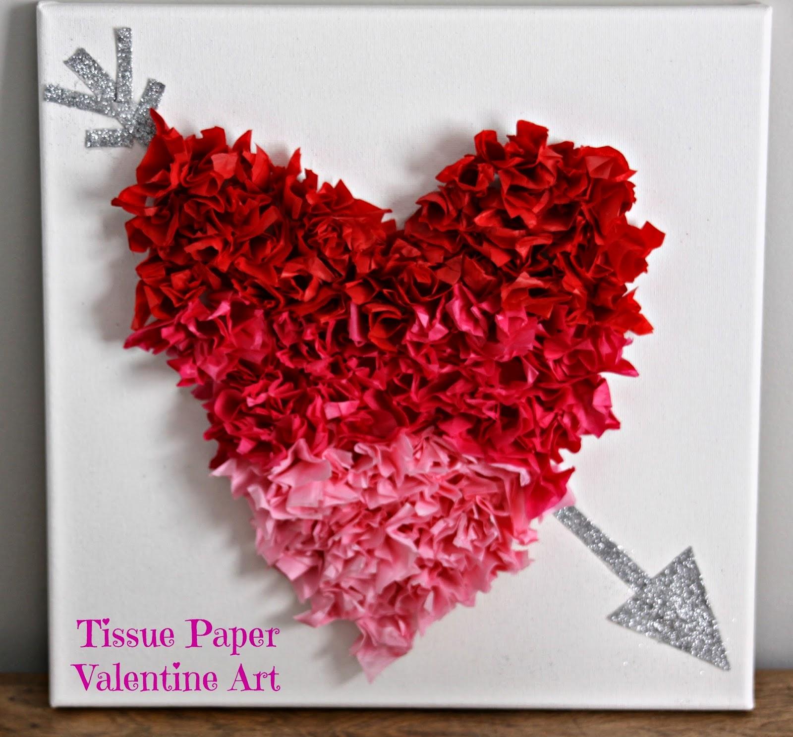 Our pinteresting family tissue paper valentine art for How to do 3d paper art