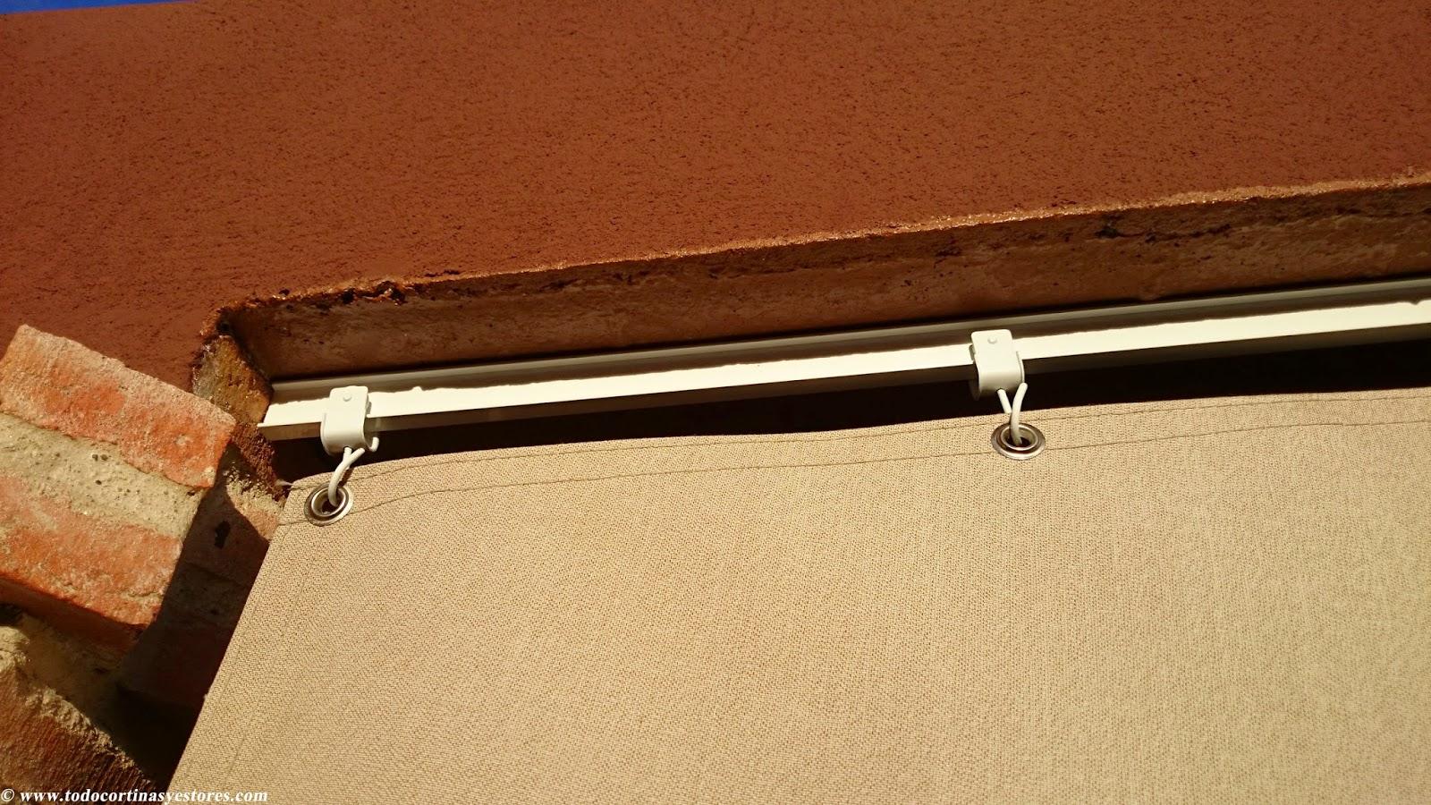 Decoracion interior cortinas verticales estores for Como hacer una cortina para exterior
