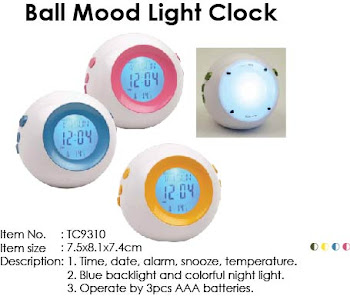 "CENTRUM LINK - ""ROUND MOOD LIGHT CLOCK"""