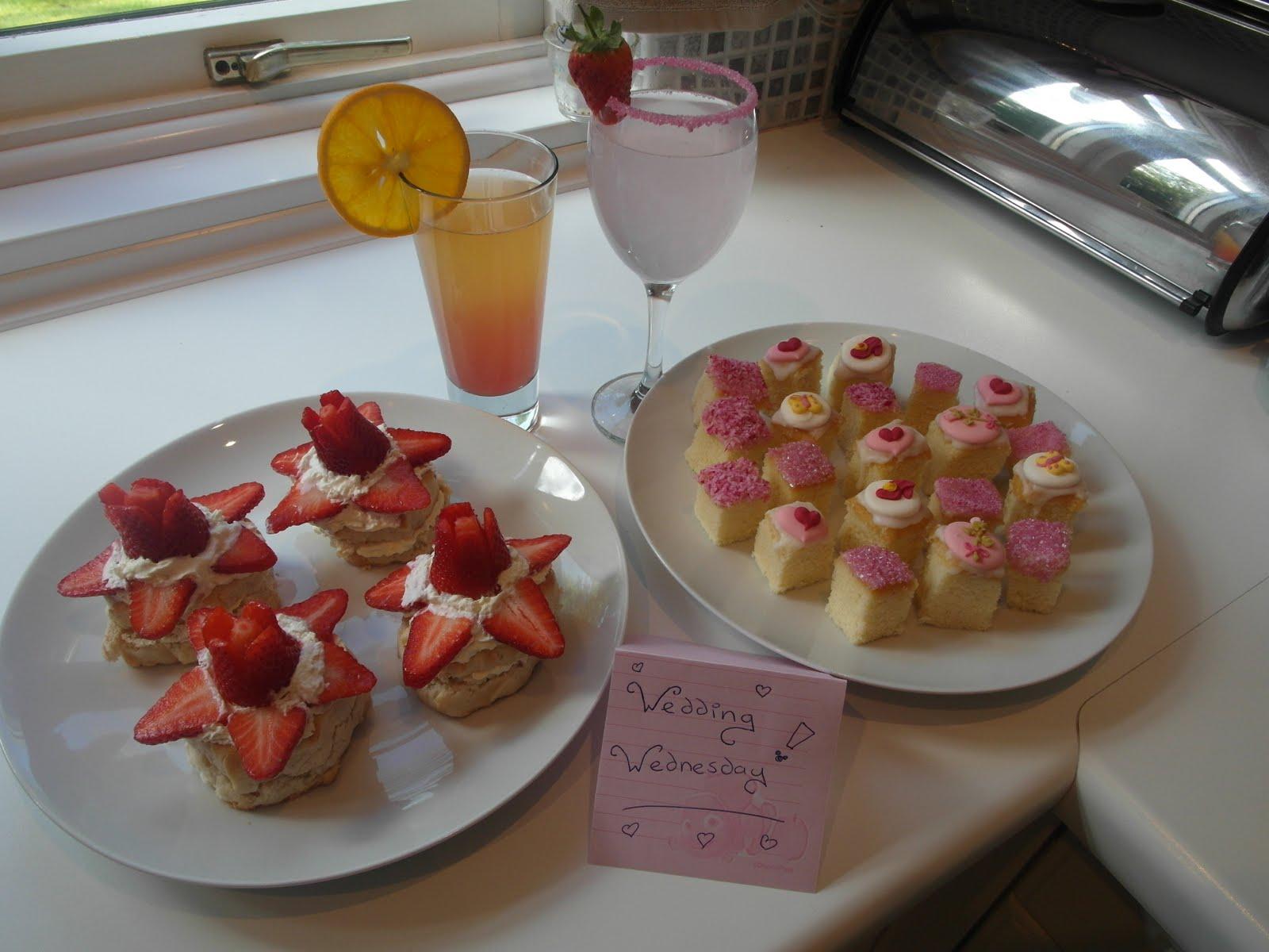 Mandas Disney Blog Royal Wedding Party Food Princess Teacakes Strawberry Cream Scones And Mocktails
