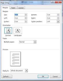 cara mengatur format awal pengetikan