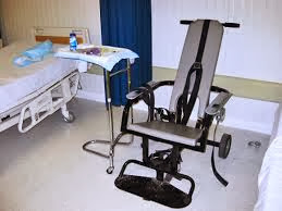 Chair to strap prisoners down at Guantanamo Bay